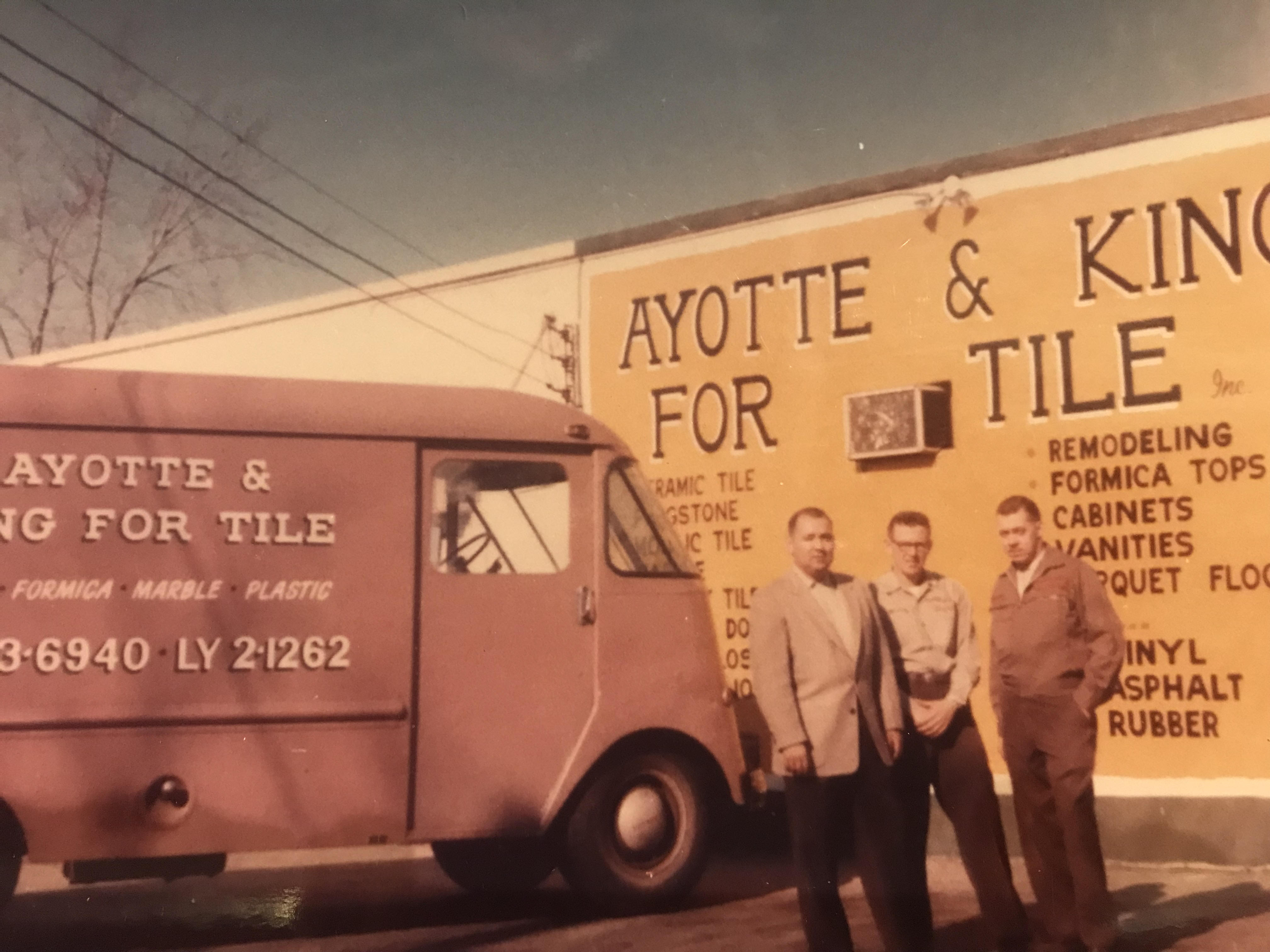 Ayottes king in front of old van